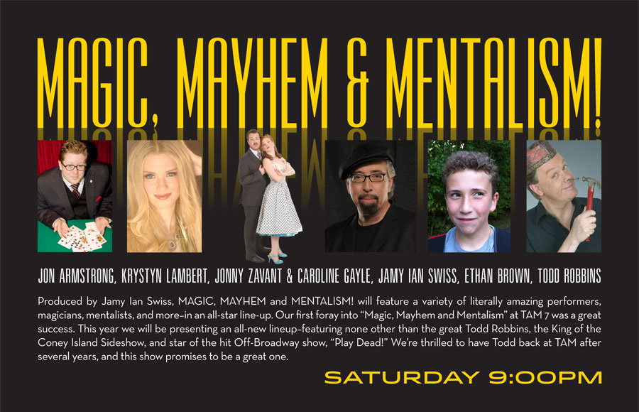 MAGIC MAYHEM AND MENTALISM